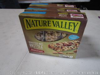 3 Boxes Nature Valley Roasted Nut Bars Almond Crunch