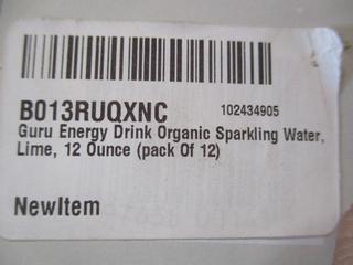 GURU Energy Drink Organic Sparkling Water