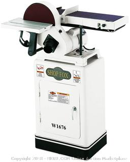 Shop Fox W1676 6-Inch by 10-Inch Combination Sander (Retail $532.00)