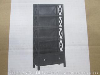 Anna 5 Shelf Bookcase