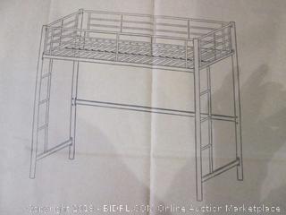 Metal Twin Loft Bunk Bed