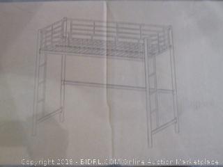 Walker Edision Metal Twin Loft Bunk Bed