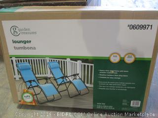 Garden Treasures Single Lounger 1 Only