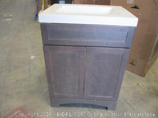 Vanity Cabinet with Sink Some damage See Pictures