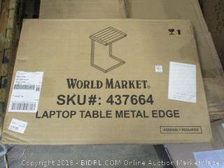 World Market Laptop Table Metal Edge