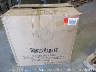 World Market Veracruz All weather Wicker Sectional Left Arm Natural See Pictures