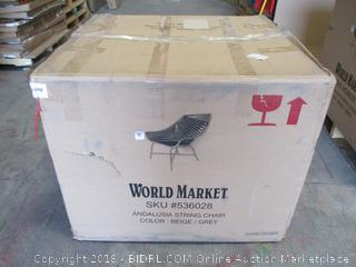 World Market  Andalusia String Chair / String coming loose see pictures