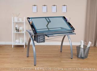 Studio Designs 10050 Futura Craft Station, Silver/Blue Glass (Retail $144.00)