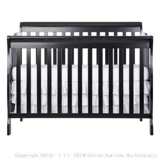 Dream On Me Ashton 5 in 1 Convertible Crib, Black (Retail $139.00)