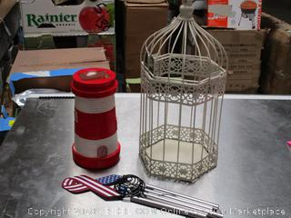 Wind Chimes/ Light House/ Bird Cage