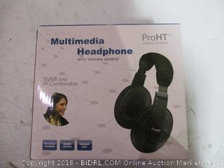 ProHT Multimedia Headphone with Volume Control