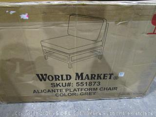 World Market Alicante Platform Chair