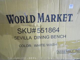 World Market Sevilla Dining Bench