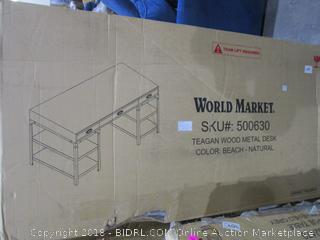 World Market Teagan Wood Metal Desk