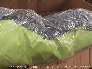 pets green and grey cushion