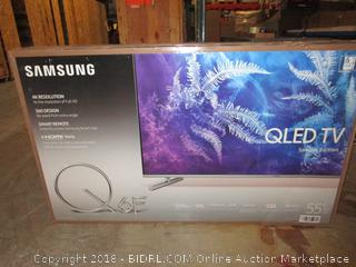 "Samsung QLED TV Special Edition 55"" Powers on, Cracked Screen"