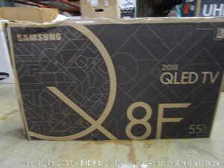 """Samsung QLED TV 55"""" Powers on, Cracked Screen"""