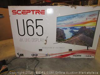 Sceptre U65 4K UHD Display Powers on, Like New