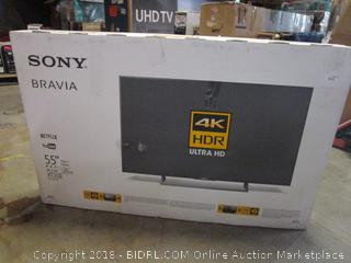 """Sony Bravia 55""""  Powers on, Like New"""