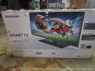 """Sam sung Smart TV 55""""  Powers on, Cracked Screen"""