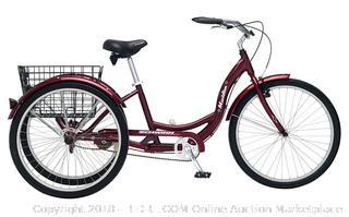 Schwinn Meridian Full Size Adult Tricycle 26 wheel size Bike Trike (Retail $344.00)