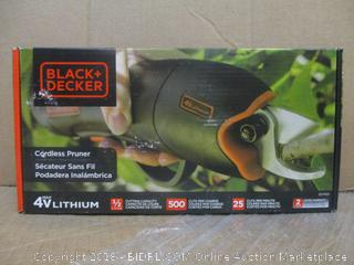 Black + Decker Cordless Pruner / Sealed
