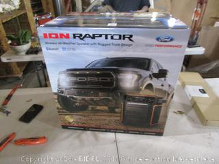 ION Raptor Wireless All Weather Speaker with Rugged Truck Design