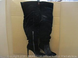 The Fix Mariah Thigh High Slouch Boots Black Size 7.5 B In Box
