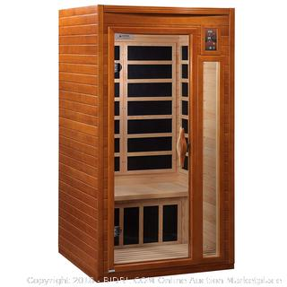 DYNAMIC SAUNAS AMZ-DYN-6106-01 Barcelona 1-2 Person Far Infrared Sauna (Retail $999.00)