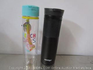Lot 2 Travel Cups Water Bottle Contigo