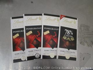 Lindt Excellence Pomegranate Dark Chocolate