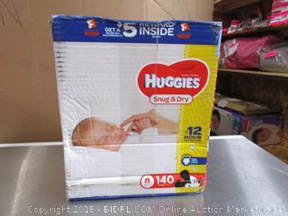 Huggies 140 Newborn Diapers