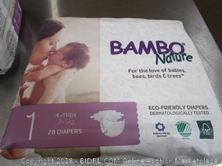 Bambo Nature Size 1 Diapers