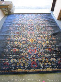 renaissance navy 7x10 rug