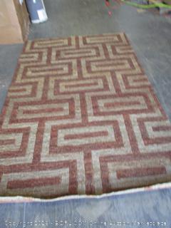 Bombay Heritage beige/russet Indian rug