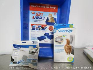 Lot Cat Litter Tray & Bags & Filters