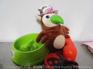 Lot Dog Leash Dog Toys & Dog Bowl