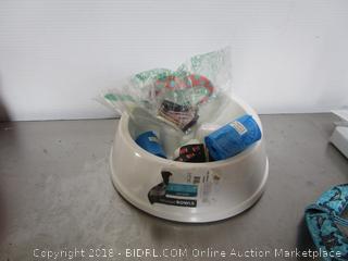 Lot Dog Bowl Leash & Trash Bags