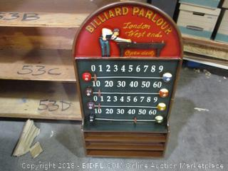 Billiard Parlour Score Board