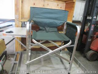 Camping Director Chair w/ Fold Up Side Table w/ Cup Holder