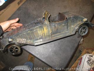 Decorative Metal Car (Some Pieces Broken)