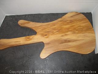Guitar Shaped Wooden Cutting Board