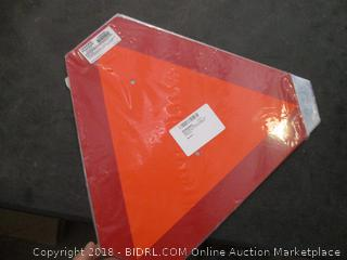 Reflective Orange and Red Slow Moving Vehicle Sign