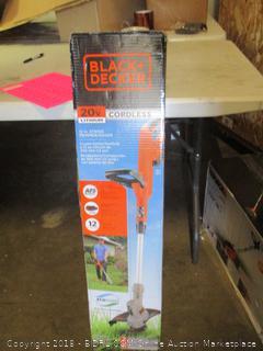 Black+Decker cordless string trimmer