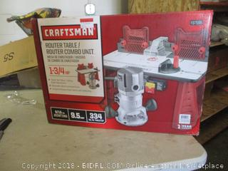 Craftsman router table/router combo unit