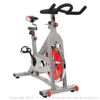 Sunny Health & Fitness Pro Indoor Cycling Bike RETAIL: $254.07