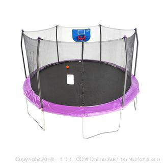Skywalker Trampolines 15' Jump N' Dunk with Safety Enclosure and Basketball Hoop RETAIL: $499.99