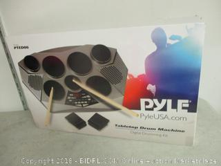 Pyle tabletop drum machine digital drumming kit