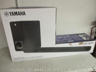 Yamaha sound bar with wireless subwoofer surround system