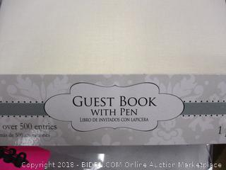 Guest Book With Pen